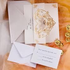cheap wedding invitations online 20 best gold wedding invitations images on gold