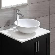 kraus kcv 141 white ceramic white vessel single bowl bathroom