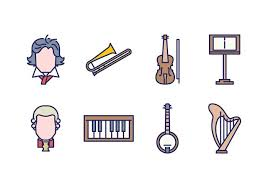 free classical icons free vector stock