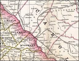 Georgia South Carolina Map Charlotte Columbia U0026 Augusta Railroad 1883 Map