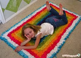 upcycled latch hook rug made by marzipan