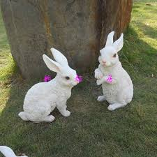 rabbit lawn ornaments 47 best garden statues images on