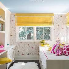Kids Roman Shades - pink and yellow kids bedding design ideas