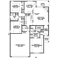traditional style house plan 3 beds 2 00 baths 1474 sq ft plan