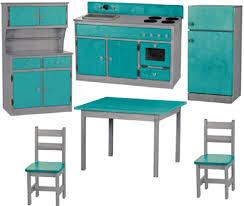 preschool kitchen furniture 6pc wood kitchen play set preschool furniture made in usa