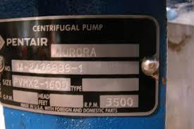 pentair centrifugal pump aurora pvmx2 160d ebay