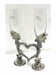 wedding glasses heart wedding glasses german toasting glasses