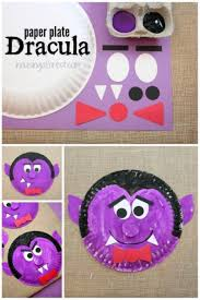 paper plate dracula dracula crafts and october