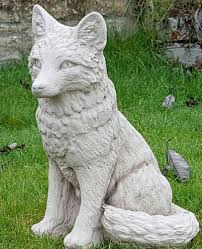 fox garden ornament in cast cast garden ornaments