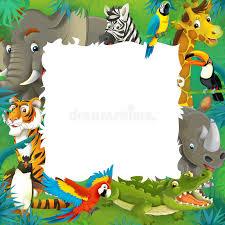 safari cartoon cartoon safari jungle frame stock illustration illustration of