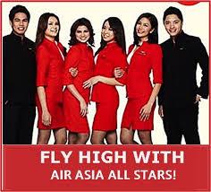 airasia uniform air asia male and female cabin crew hiring for 2016