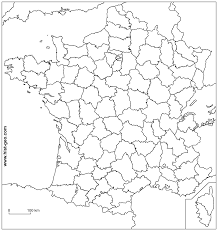 France On World Map by Outline Map Of France French Departments