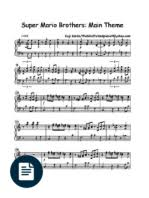 super mario bros 2 overworld theme piano sheet