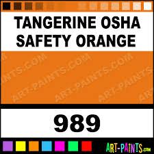tangerine osha safety orange heavy duty auto spray paints 989