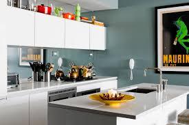 teal kitchen with mirror backsplash kitchen ideas pinterest