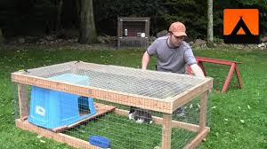 Cheapest House To Build Plans by How To Build A Rabbit Hutch Cheap And Easy Youtube