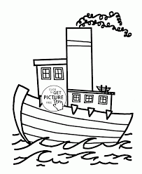 nice cartoon steamship coloring page for kids transportation