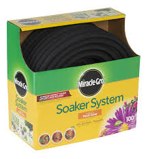amazon com miracle gro premium soaker hose 100 ft with push on