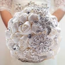 satin roses made ivory satin roses bright diamond flower