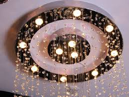 Wohnzimmerlampe Kristall Wohnzimmer Kristall Kreis Kristall Led Großen Kristall