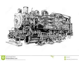 steam engine art design drawing royalty free stock photography
