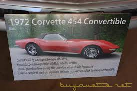 1972 corvette convertible 454 for sale 1972 corvette 454ci 270hp convertible for sale at buyavette