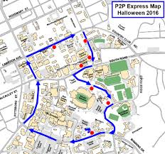 Unc Map Halloween P2p Express Campus Shuttle Transportation U0026 Parking