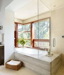 Tub Shower Combo Corner Tub Shower Combo Bathroom Contemporary With Mosaic Tiles