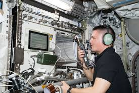 North Dakota how fast does the space station travel images Space station astronauts ham it up to inspire student scientists jpg
