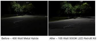 led parking lot lights vs metal halide 5 benefits of updating your parking lot lighting system to led