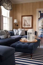navy blue sectional sofa living room contemporary with baskets