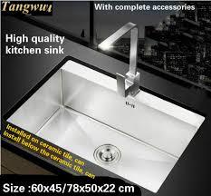 high end kitchen sinks tangwu handmade high end kitchen sink 4 mm thick food grade