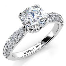 daimond ring certified diamond ring 3 rows diamonds on the band