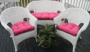 sunbrella 3 piece wicker cushion set indoor outdoor choose solid