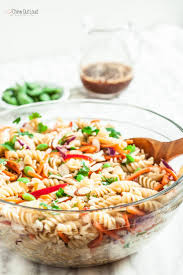 asian pasta salad with sesame ginger dressing chew out loud