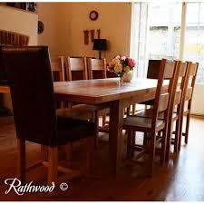 kingston dining room table kingston 6ft oak extending dining table rathwood