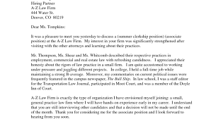 sample thank you note after interview law firm cover letter