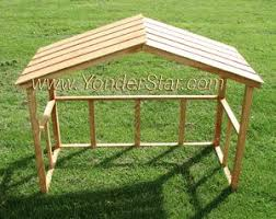 wooden outdoor nativity stable nativity