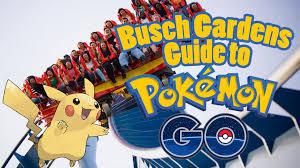 Busch Gardens Map Guide To Pokemon Go At Busch Gardens Youtube