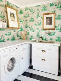 decorations awesome small laundry room with artistic green