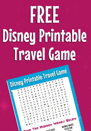 traveling games images Free disney word search more printable travel games for kids jpg