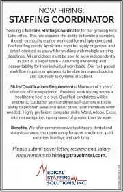 Salary Requirement On Resume Medical Staffing Solutions Inc Staffing Coordinator