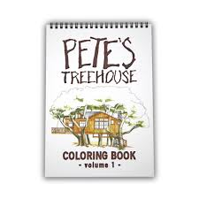 pete u0027s treehouse designs are now a coloring book u2014 nelson treehouse