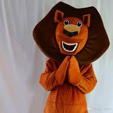 big head color madagascar lion cartoon mascot costume size