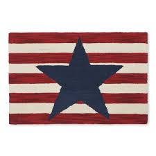 americana stars hooked accent rug sturbridge yankee workshop