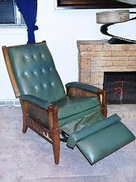latest vintage recliner chair with yellow vintage recliner chair