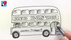 how to draw a london bus youtube