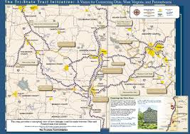 Ohio Pennsylvania Map by Tri State Trail Initiative