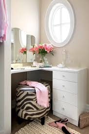 Small Corner Makeup Vanity Corner Dressing Table Interiors Design