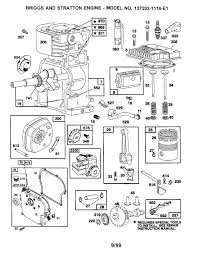 briggs u0026 stratton briggs and stratton engine parts model